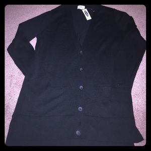 🆕NWT OLD NAVY BLACK LONG BUTTON DOWN CARDIGAN ❤️